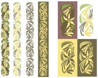 Färgad prydnad för vanilj växt Arkivfoton