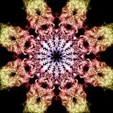 Färgad rökkalejdoskop Fotografering för Bildbyråer