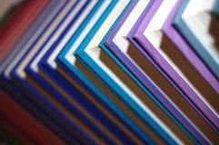färgad rad för böcker Royaltyfri Foto