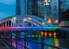 färgad regnbåge för bro Royaltyfri Foto