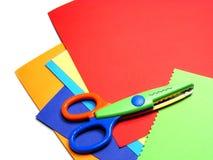 färgad sax för kort Fotografering för Bildbyråer