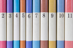 färgad serie för böcker Royaltyfria Bilder