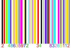 färgad stångkod Arkivbilder