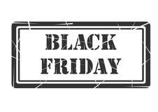 Färgad svart för design för Black Friday banerstämpel Arkivfoto