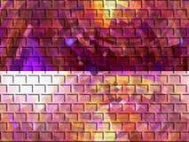 Färgad tegelstenväggbakgrund Royaltyfri Foto