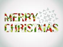 Färgad text för glad jul Arkivbild