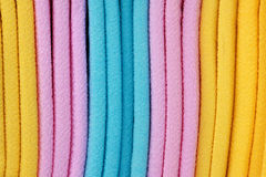 färgad torkduk Fotografering för Bildbyråer