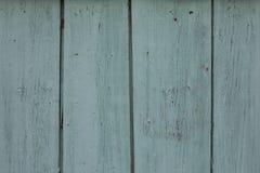 Färgad wood dörr för gammal grön turkos Royaltyfri Foto
