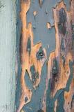 Färgad wood dörr för gammal grön turkos Royaltyfri Fotografi