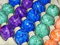 färgade ägg Royaltyfria Bilder