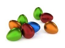 färgade ägg Royaltyfri Fotografi