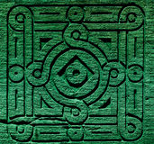 Färgade arabiska dekorativa carvings Royaltyfri Foto