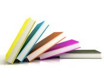färgade böcker Royaltyfria Foton