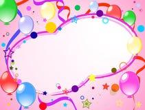 färgade bakgrundsballonger Stock Illustrationer