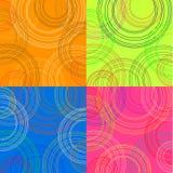 färgade bakgrundscirklar Arkivfoto