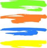 färgade baner Arkivfoton