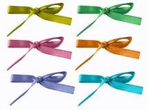 färgade blandade bows Royaltyfri Bild
