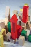 färgade block Arkivfoto