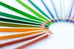 färgade blyertspennor Royaltyfria Bilder