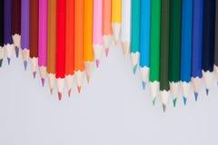 Färgade blyertspennor Fotografering för Bildbyråer