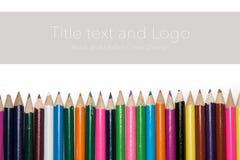 Färgade blyertspennor Arkivfoto