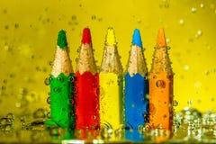 Färgade blyertspennor 01 Arkivbilder