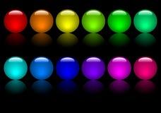 färgade bollar vektor illustrationer