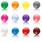 färgade bollar Arkivfoton