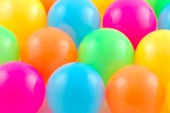 färgade bollar Royaltyfria Bilder