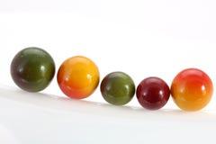 färgade bollar Arkivbilder