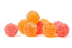 Färgade bollar för fruktgelé Royaltyfri Bild