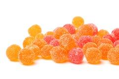 Färgade bollar för fruktgelé Fotografering för Bildbyråer