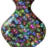 Färgade bollar i den glass vasen royaltyfri illustrationer