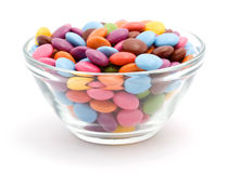 färgade bonbons Royaltyfria Bilder