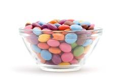 färgade bonbons Arkivbilder