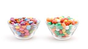 färgade bonbons Arkivfoto