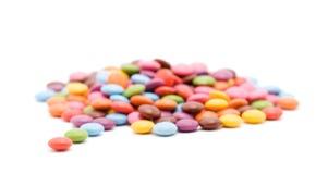 färgade bonbons Arkivbild