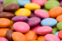 färgade bonbons Royaltyfri Foto
