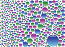 färgade bubblor Royaltyfri Foto