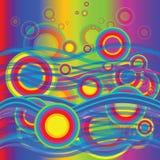 färgade bubblor Royaltyfri Fotografi