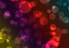 färgade bubblor Arkivbilder