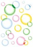 Färgade bubblor Arkivbild