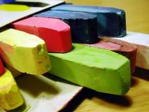färgade chalks Royaltyfria Foton
