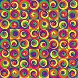 färgade cirklar Stock Illustrationer