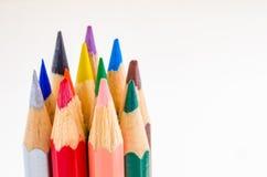 färgade crayons Royaltyfri Bild