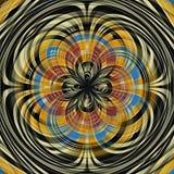Färgade den abstrakta grafiska spiralen för konst psykedelisk bakgrund royaltyfri illustrationer