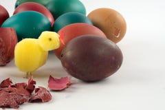 färgade easter ägg Fotografering för Bildbyråer