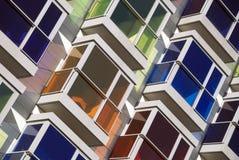 Färgade fönster Royaltyfri Fotografi