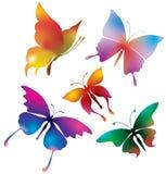 färgade fjärilar Royaltyfri Bild