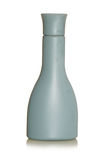 Färgade flaskflask- och behållaregrå färger boxas med en vit bakgrund Arkivfoto